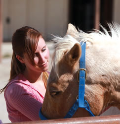 Remuda Ranch girl in recovery from anxiety disorder