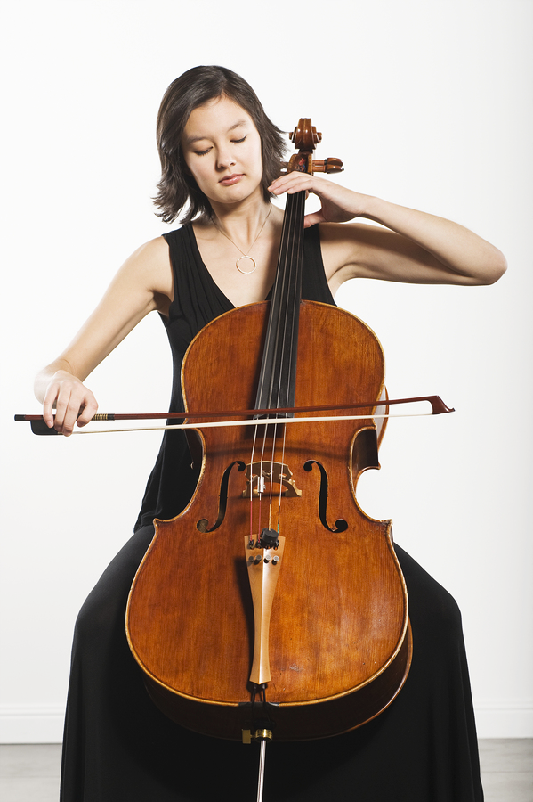 Young Woman Playing Cello for Binge Eating Disorder