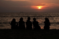 Girls on Beach in Residential Eating Disorder treatment