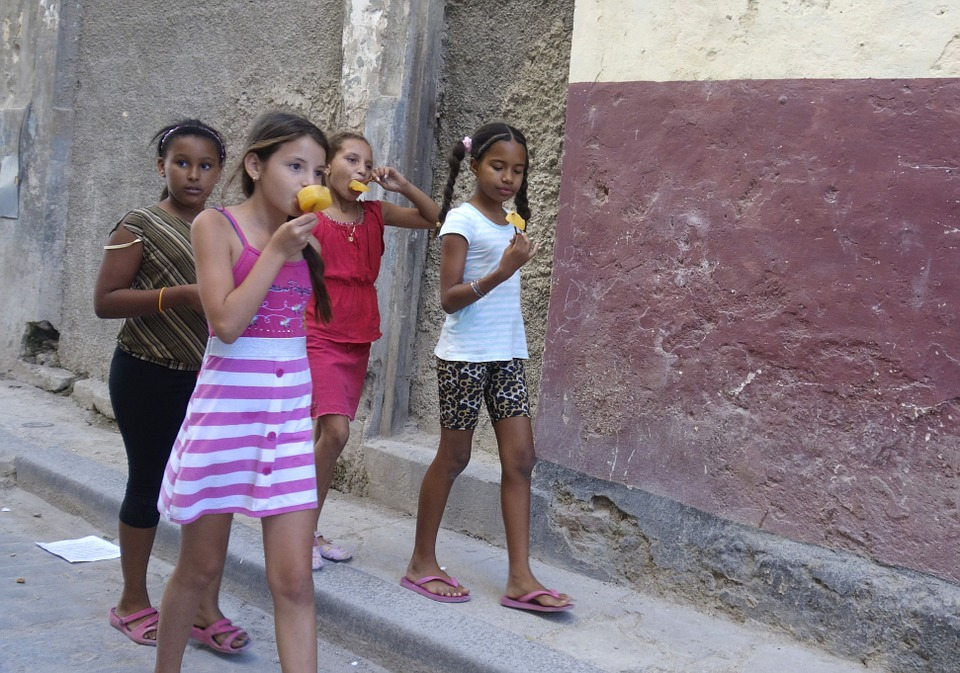 Children walking and fighting Weight Obsession