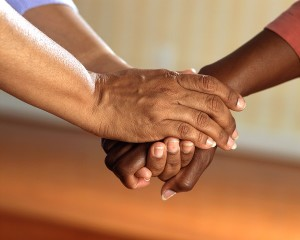 South African's holding hands