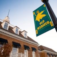 Webster Wellness Building with Old Webster Flag