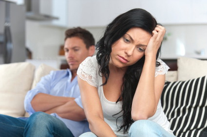 Woman dealing with intimacy issues