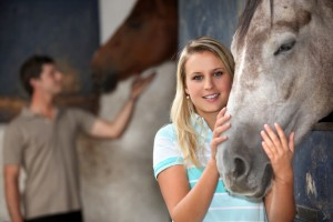 Girl working on Equine Therapy and Eating Disorders