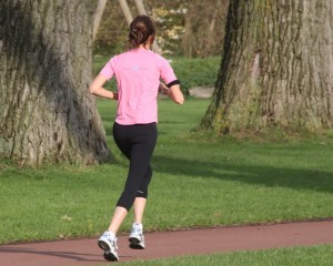 Woman with Orthorexia running in the morning