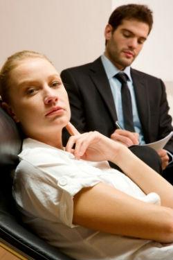 Women speaking to mental health doctor