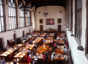 College cafeteria where college students can do binge eating
