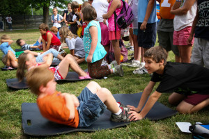 Kids exercising to prevent Pediatric eating disorders