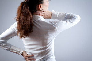 Lady dealing with Chronic Pain