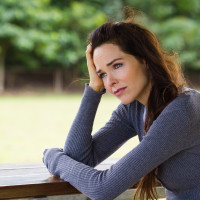 Woman concerned about eating disorder