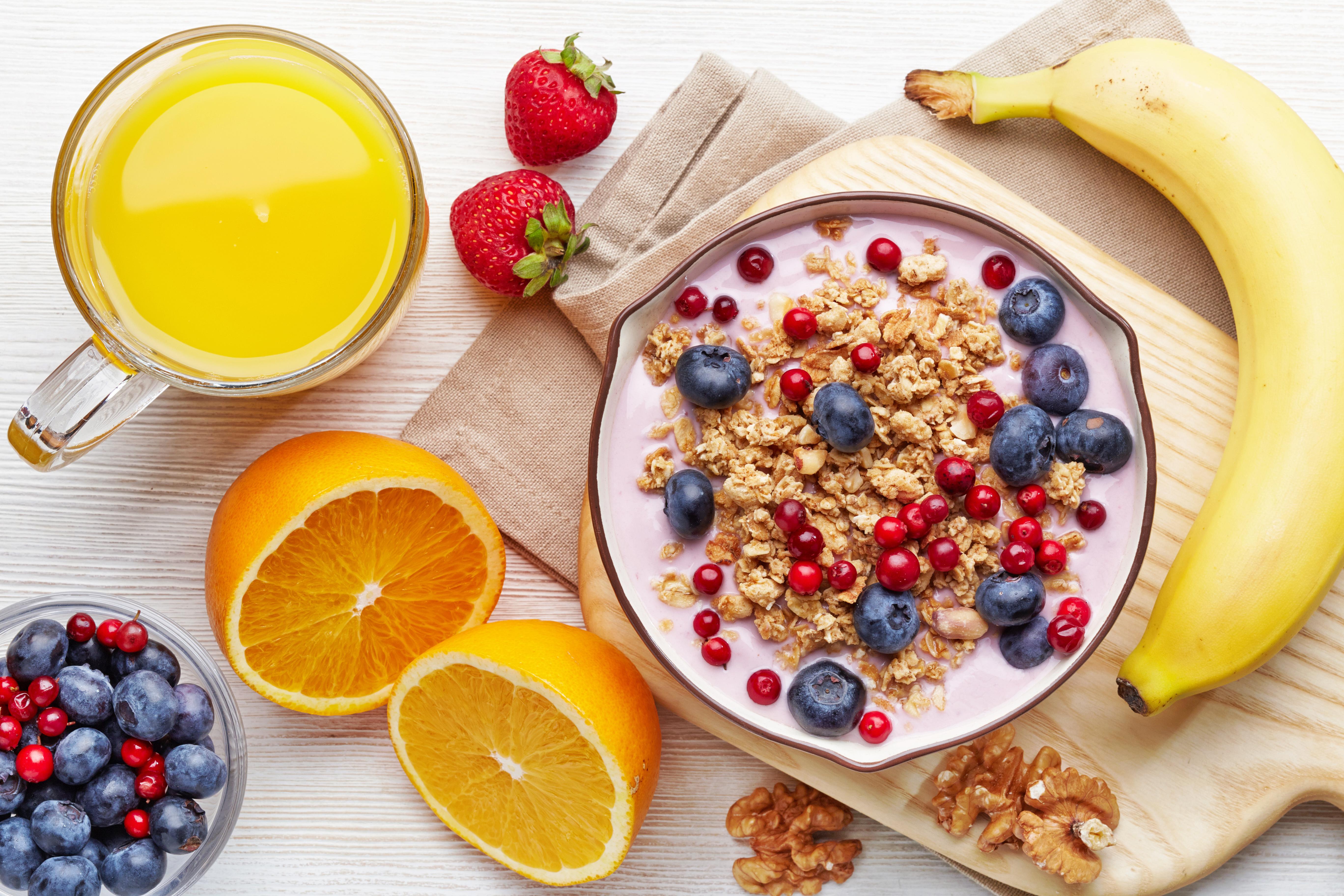 Healthy breakfast on a meal plan.