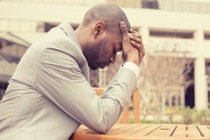 man stressed about Deipnophobia