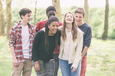 Multiethnic Group of Teenagers in the LGBTQ community
