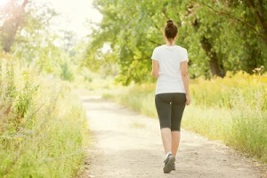 Runner woman jogging outdoors
