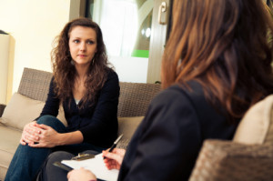 young lady in therapy session discussing a mentor