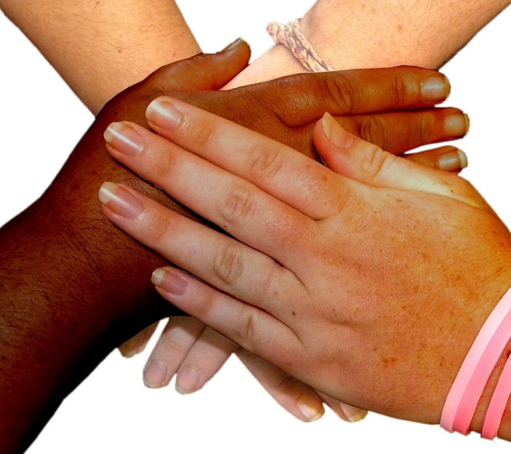 Support groups holding hands