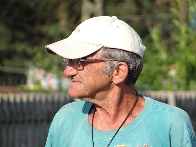 Older man looking on