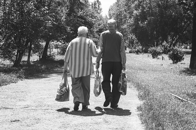 Two elderly people discussing Eating Disorder Development in Elderly Patients