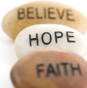 Believe - Hope - Faith Image