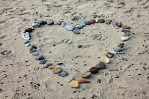 Rocks making a heart on the beach representing Kenya Eating Disorder Treatment