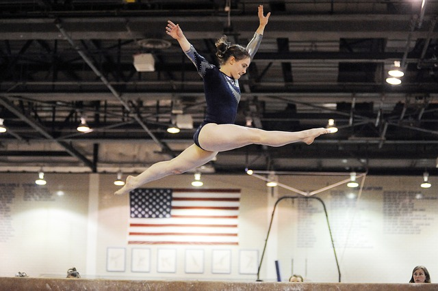 Girl on Mat Battling Eating Disorders in Female Gymnasts