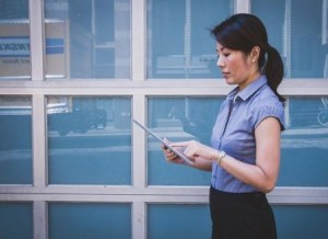 Woman working in corporate america