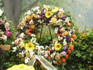 Wreath at funeral.