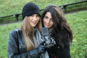 Friends in anorexia recovery taking photos