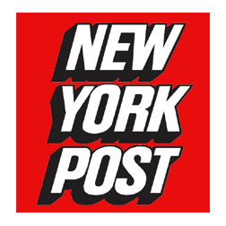 NY Post in capital letters
