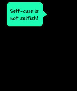 Self-care ninja graphic