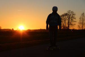Boy summer skateboard