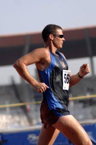 Man running with Eating Disorder