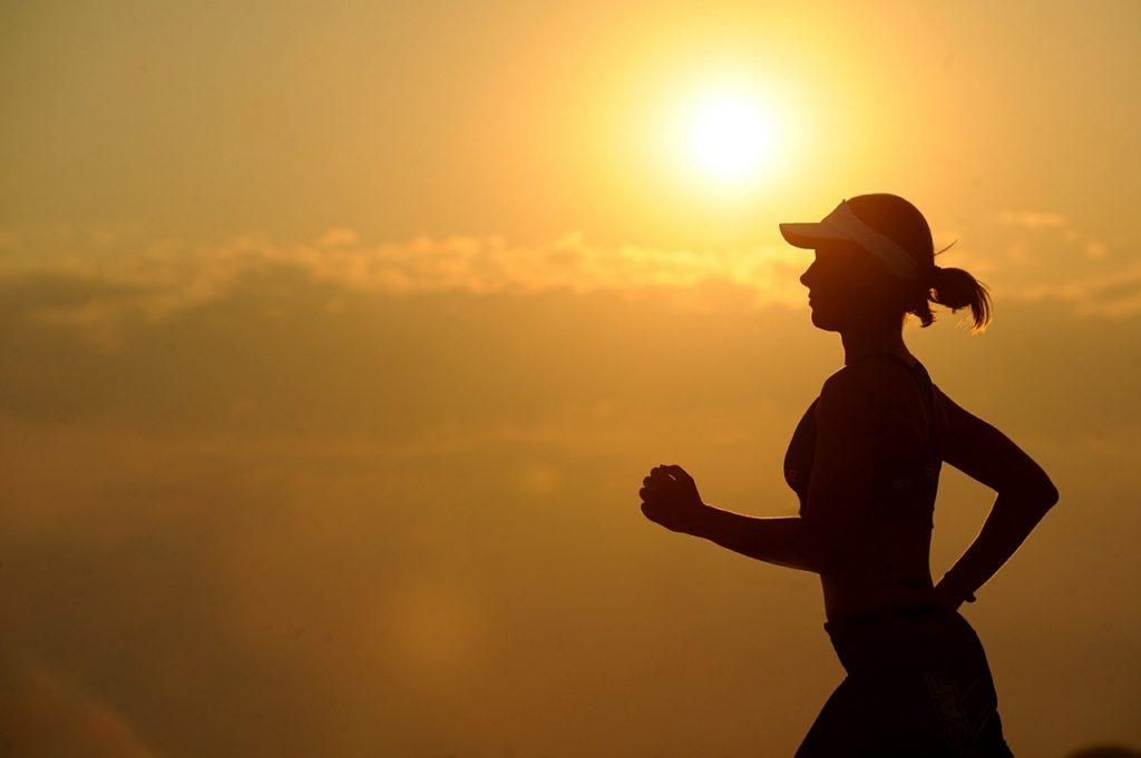 Woman running toward binge eating disorder solution