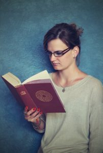 Girl reading about the Awareness of Eating Disorders