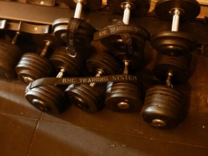 Dumbbells used in creating masculinity for some people