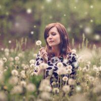 Woman in Field of Dandelions