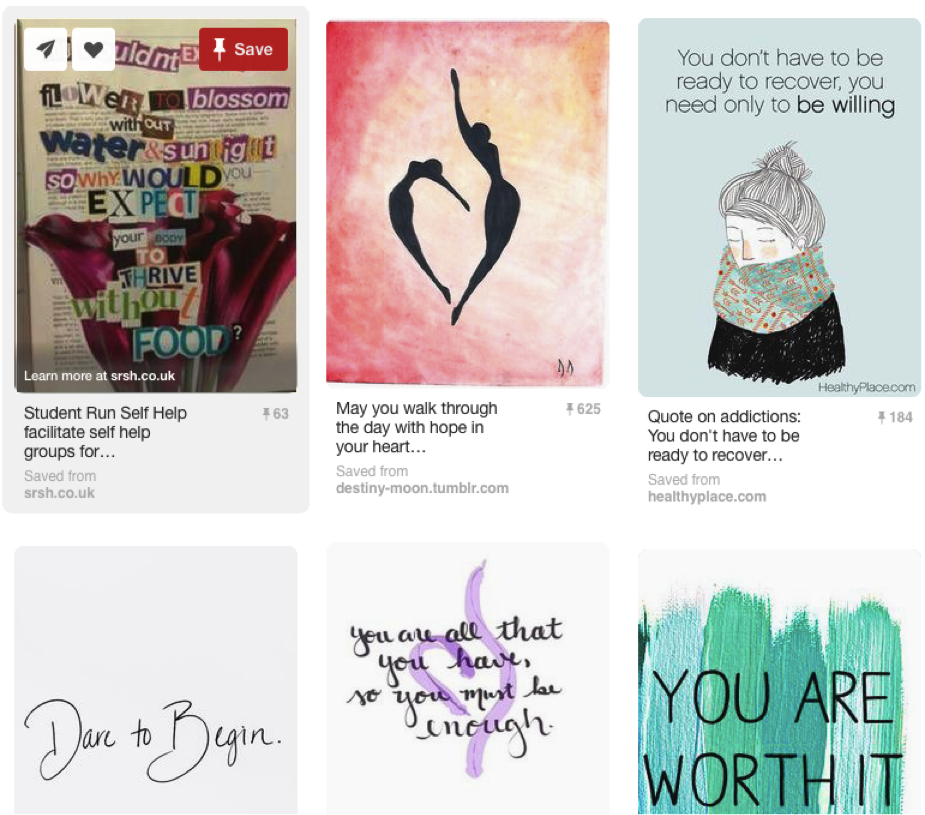 Pinterest Board 5 for the Pro-Recovery Pinterest Contest