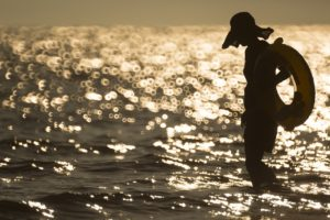 woman on beach fighting Diabetes and Binge Eating Disorder