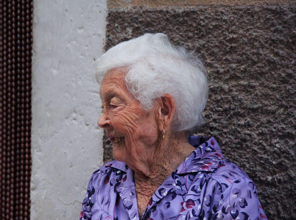 Elderly woman undergoing eating disorder treatment