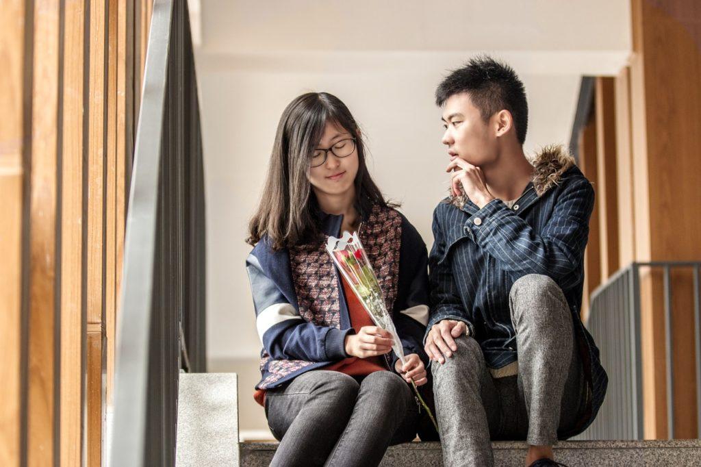 Couple discussing boundaries
