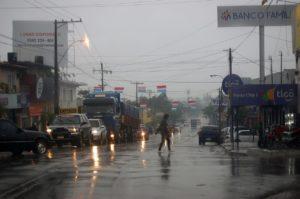 Roadway raining