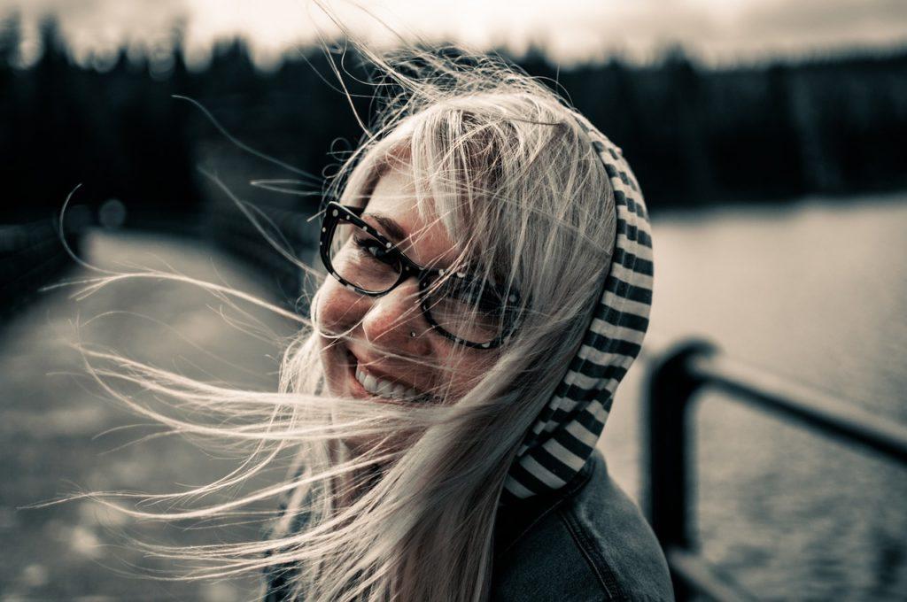 Woman enjoying eating disorder recovery