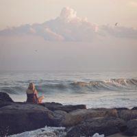 Woman at ocean