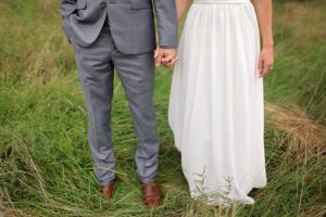Couple after their wedding