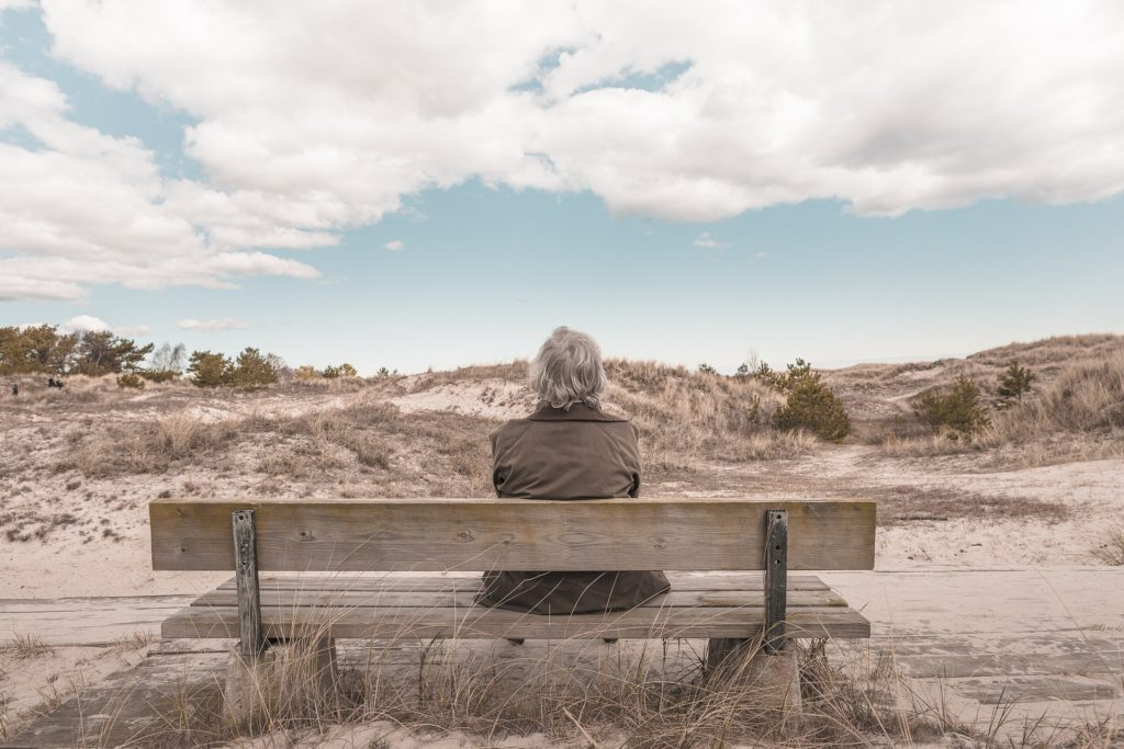 Older Woman on a bench