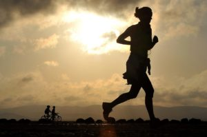 Woman runner with Exercise Compulsion