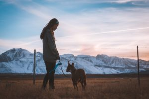 Relapse Volunteer walking the dog