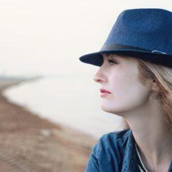 Woman staring