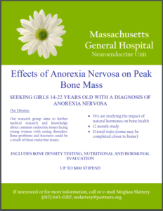 Eating Disorder Research Massachusetts General Hospital Bone Mass Study