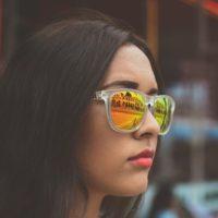 Woman In Mirror Sunglasses